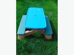 step 2 folding picnic table little tikes picnic table seats 4 age 2 4 step 2 teal blue tan hole