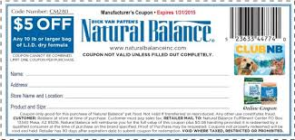printable natural balance dog food coupons 2017