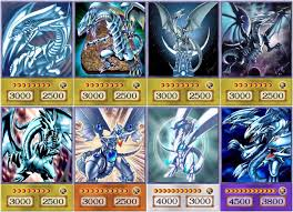 yugioh orica blue eyes white dragon anime art set of 8 cards