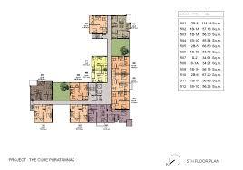 floor plan cube room types in pattaya pratumnak hill