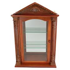 wall mounted curio cabinet amazon com glass curio cabinets essex hall wall mounted curio