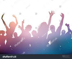 party silhouette silhouette party crowd stock vector 278922731 shutterstock