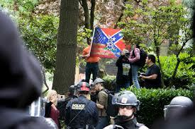Vanguard Flag Counter Protesters Question Police Tactics At Trump Rally Vanguard