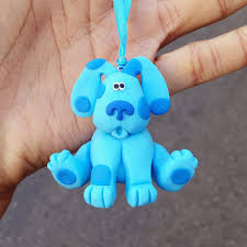 blues clues ornament blues clues figurine polymer by necklaced