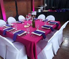 fuchsia u0026 purple reception decor with wine bottle centerpiece and