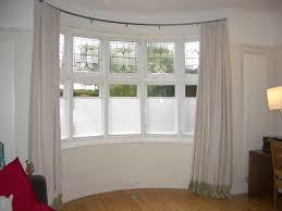 bow window curtain rod curtains wall decor