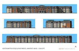 plans for four story apartment building filed for amherst motel site