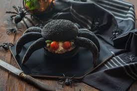 black spider burger with salmon cuisine addict