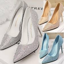 cheap silver sparkly heels is heel
