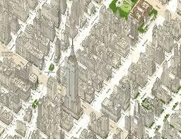 Midtown Manhattan Map Looking Back Page Through Michael Stoll U0027s Treasure Island Of