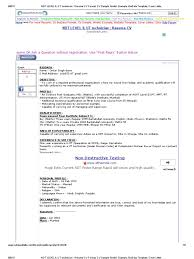 Resume Examples Cover Letter by Ndt Level Ii Ut Technician Resume Cv Format Cv Sample Model