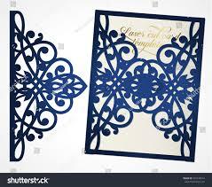 abstract cutout wedding invitation suitable lasercutting stock