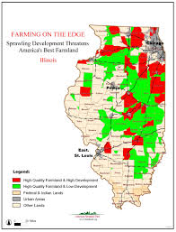 Map Of Indiana And Illinois by Farming On The Edge American Farmland Trust