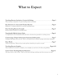Great Teacher Resumes Resume Guide