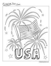 4th of july star flag coloring page 04 de julio y escolares