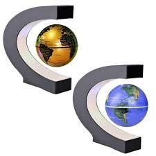 world globe home decor c shape black blue led world map decor home electronic magnetic