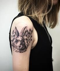 60 rabbit tattoo ideas art and design