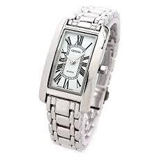 silver bracelet watches images Geneva silver bracelet rectangle face classic roman jpg