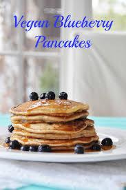 vegan blueberry pancakes veganosity