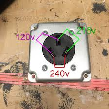 wiring 240v outlet with 120v and 215v how home improvement