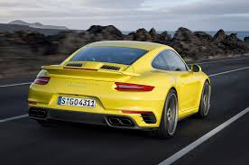 Porsche 911 Yellow - turbo s cabriolet 2014 porsche 911 turbo front right view1
