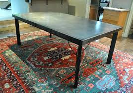 dining table metal top dining table round ideas home design