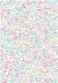 food vector illustrated food pattern vector download
