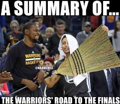 Broom Meme - nba memes bring out the broom warriors nation facebook