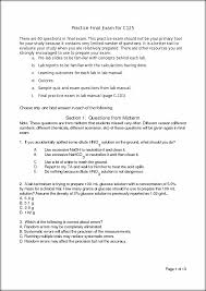 chem 125 final practice exam practice final exam for c125 there