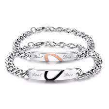 bracelet chain images Real love 39 couple chain bracelet good morning quote jpg