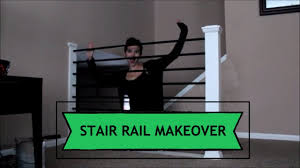 diy stair railing makeover baluster and newel post revamp youtube