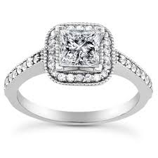 Wedding Rings Princess Cut by 1 1 2 Carat Princess Cut Halo Engagement And Wedding Ring Set
