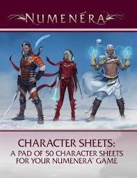 numenera rpg character sheets game nerdz
