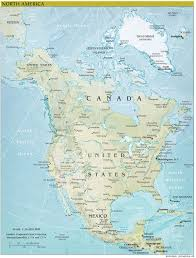 North America Climate Map by North America Continent Map U2022 Mapsof Net
