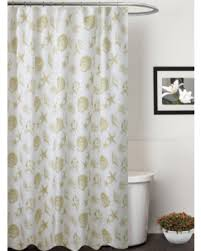 Seashell Fabric Shower Curtain Find The Best Savings On Seashells Fabric Shower Curtain Taupe Beige