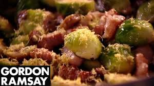 thanksgiving brussel sprouts bacon brussels sprouts with pancetta and chestnuts gordon ramsay youtube