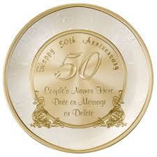 50th anniversary plates customizable 50th wedding anniversary gifts plate zazzle