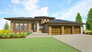 modern prairie house plan for rear sloping lot modern prairie house plan for rear sloping lot floor master suite cad available den office library study law media game home