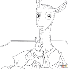 llama llama red pajama coloring page printable pages