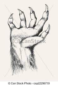 vector clip art of werewolf sketch illustration of werewolf hand