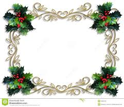christmas holly border free templates