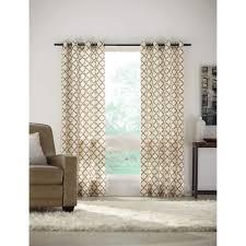 Lattice Design Curtains Home Decorators Collection Semi Opaque Sand Lattice Luxe Flocked