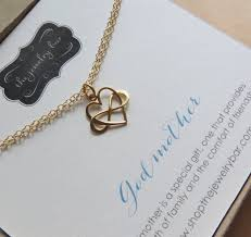 goddaughter charm christmas gift for godmother infinity heart bracelet godmother