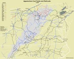 Pennsylvania Railroad Map by Evolution Of Appalachian Railroads 1945 2005 U2013 Appalachian