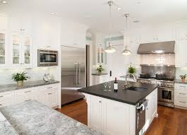 white fantasy quartzite kitchen contemporary with stainless steel