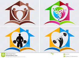 home gym logo royalty free stock photography image 26073297