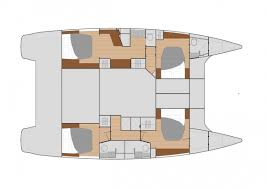 Catamaran Floor Plans Catamaran Sailboat Saba 50 Fountaine Pajot