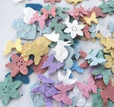 flower seed paper flower seed confetti diy wedding favors table decorations seed