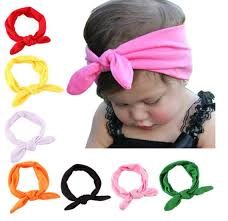top knot headband baby toddler pre scarfs bunny ear cotton headband