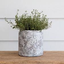rustic speckled glaze plant pot rustic vase shabby chic vase